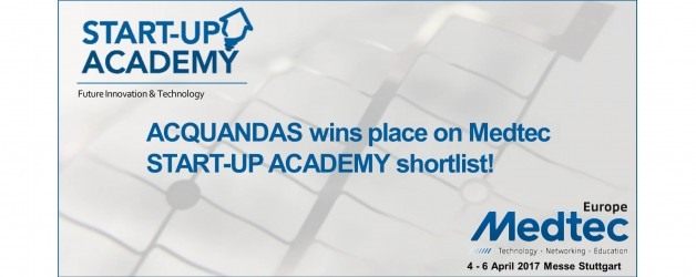 ACQUANDAS wins place on Medtech Europe START-UP ACADEMY shortlist