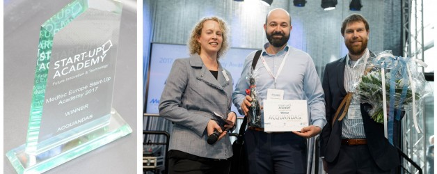 ACQUANDAS wins Medtec Europe 2017 Start-Up Academy Award